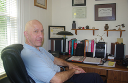 André Fritz at his desk